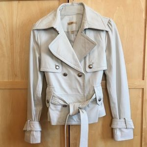 Wilsons Leather Double Breasted Belted Jacket SZ-S